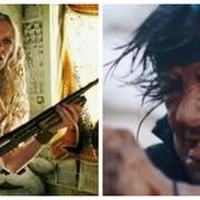 kadry z filmów Bękarty diabła i Rambo 4