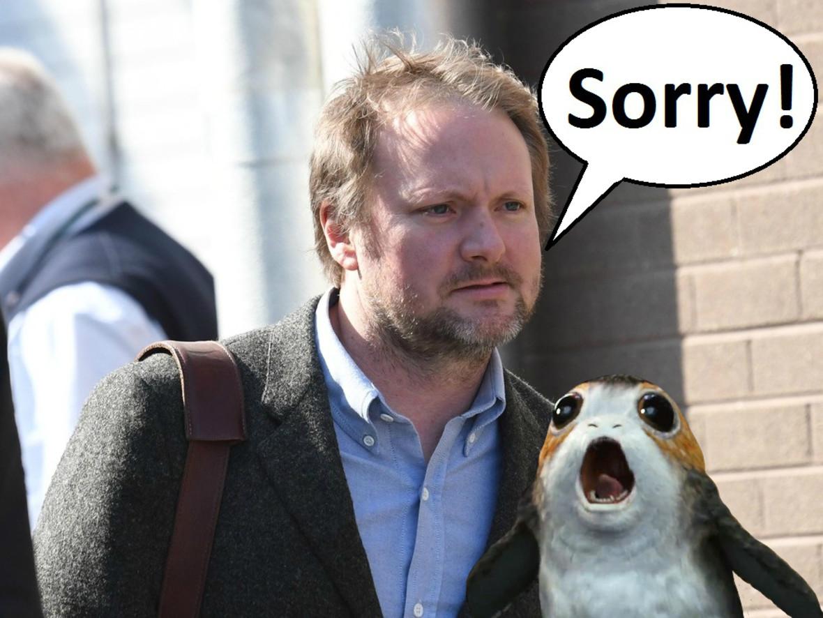 """Rian Johnson przeprasza fanów """"Star Wars"""" za Porgi"""