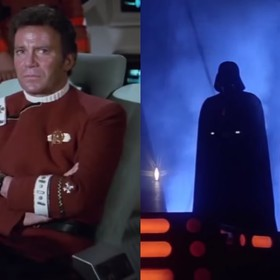 """Kapitan Kirk kuszony przez Ciemną Stronę Mocy w wideo łączącym uniwersa """"Star Wars"""" i """"Star Trek"""""""