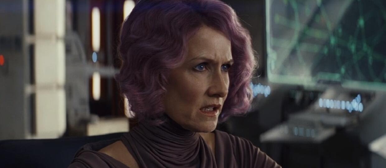 Laura Dern jako admirał Holdo