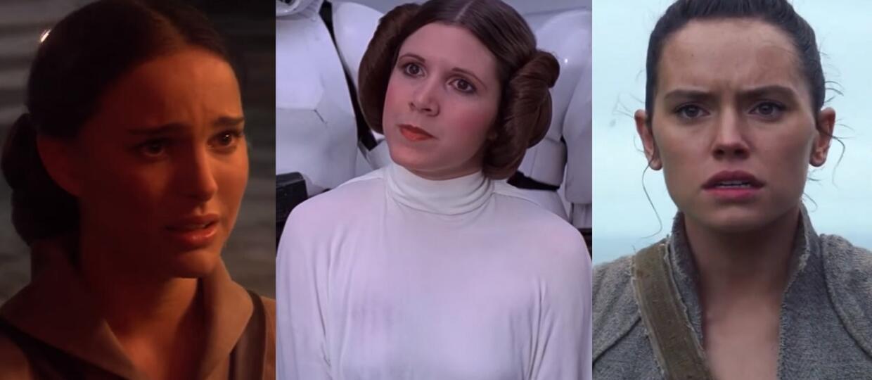 Padme, Leia, Rey Star Wars
