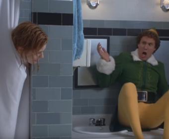 Zooey Deschanel i Will Ferrell w filmie Elf