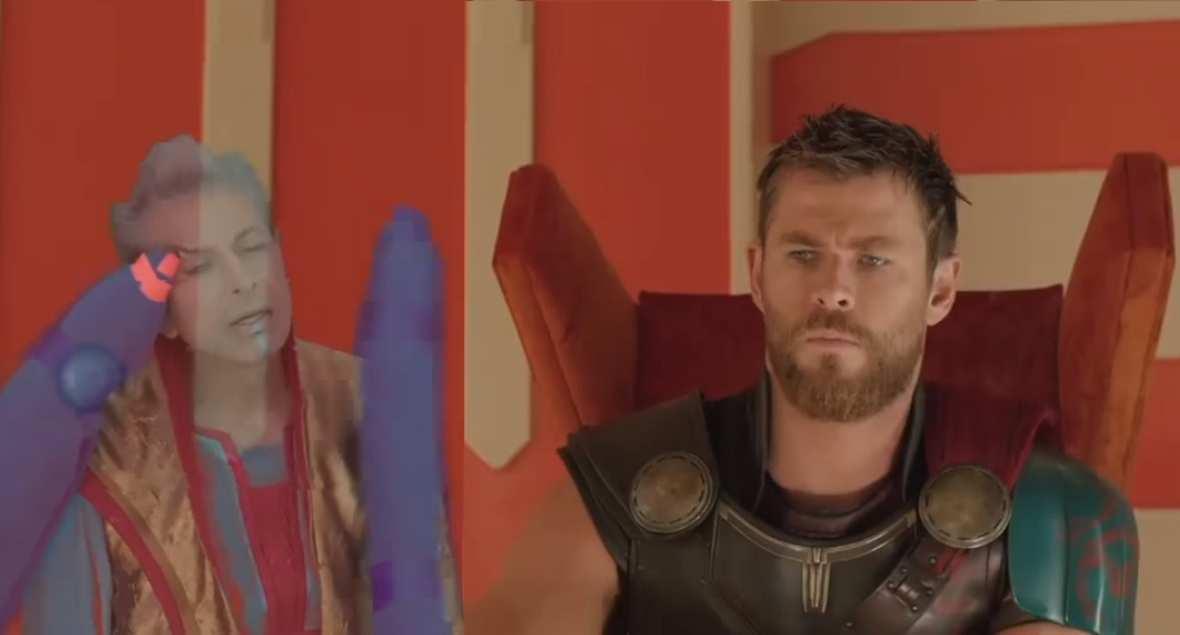 """Sprośny hologram Grandmastera w usuniętej scenie z filmu """"Thor: Ragnarok"""""""