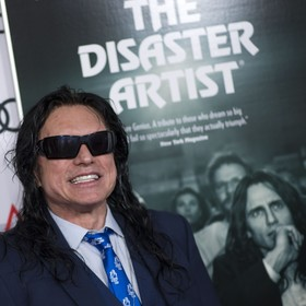 Tommy Wiseau na premierze The Distaster Artist