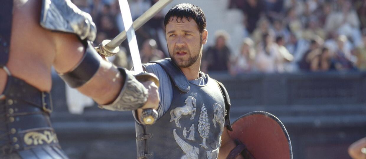"""Russell Crowe w filmie """"Gladiator"""", foto: Collection Christophel / RnB/EAST NEWS"""
