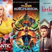 """Plakaty filmów """"Jak romantycznie!"""", """"Thor: Ragnarok"""" i """"Małe zło"""", foto: materiały prasowe"""