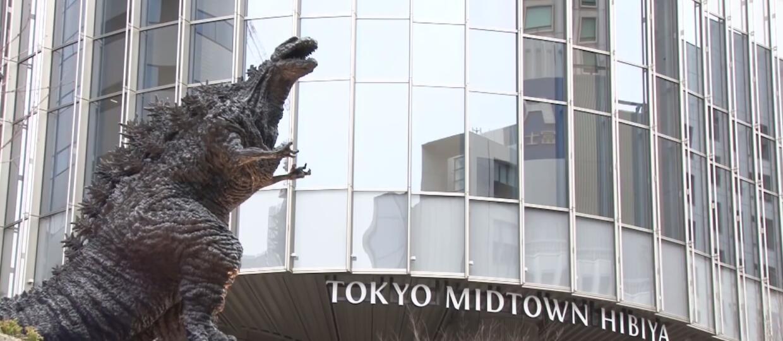 Pomnik Godzilli w Tokyo