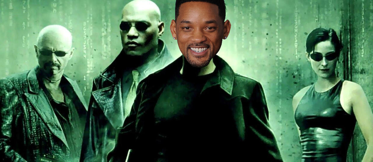 "Will Smith jako Neo w ""Matrixie"""