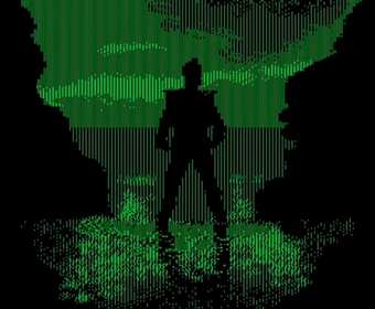 """Zwiastun filmu """"Gwiezdne wojny: Ostatni Jedi"""" odtworzony w stylu gry wideo z lat 80."""
