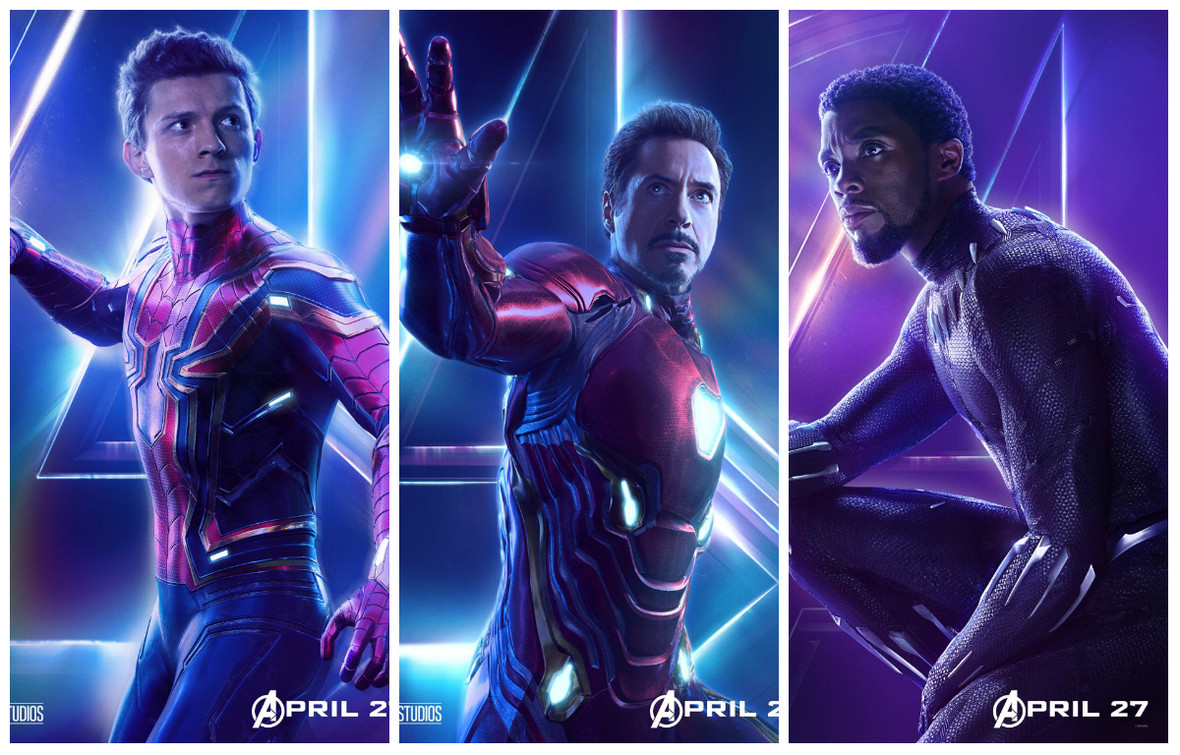 Avengers Infinity War Plakaty Z Bohaterami Filmu