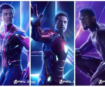 Spider-Man, Iron Man i Black Panther - plakaty Avengers: Infinity War