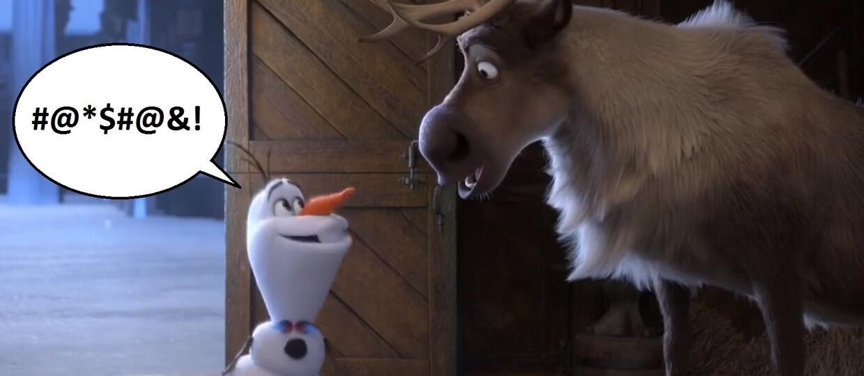 """Czy bałwanek Olaf z """"Krainy lodu"""" używa wulgaryzmów?"""