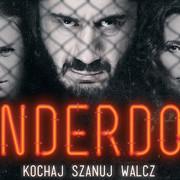 Eryk Lubos, Mamed Chalidow i Aleksandra Popławska na plakacie filmu o MMA