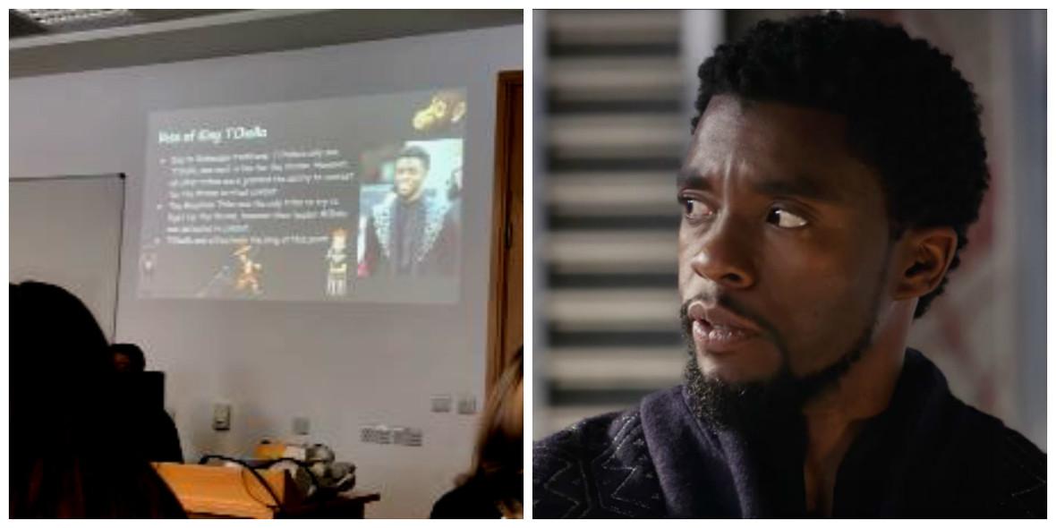Prezentacja o Wakandzie, Chawick Boseman jako T'challa
