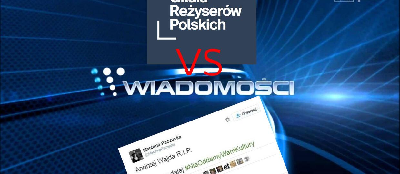 """Gildia Reżyserów Polskich chce odwołania szefowej """"Wiadomości"""""""
