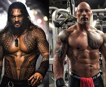Jason Momoa i Dwayne Johnson