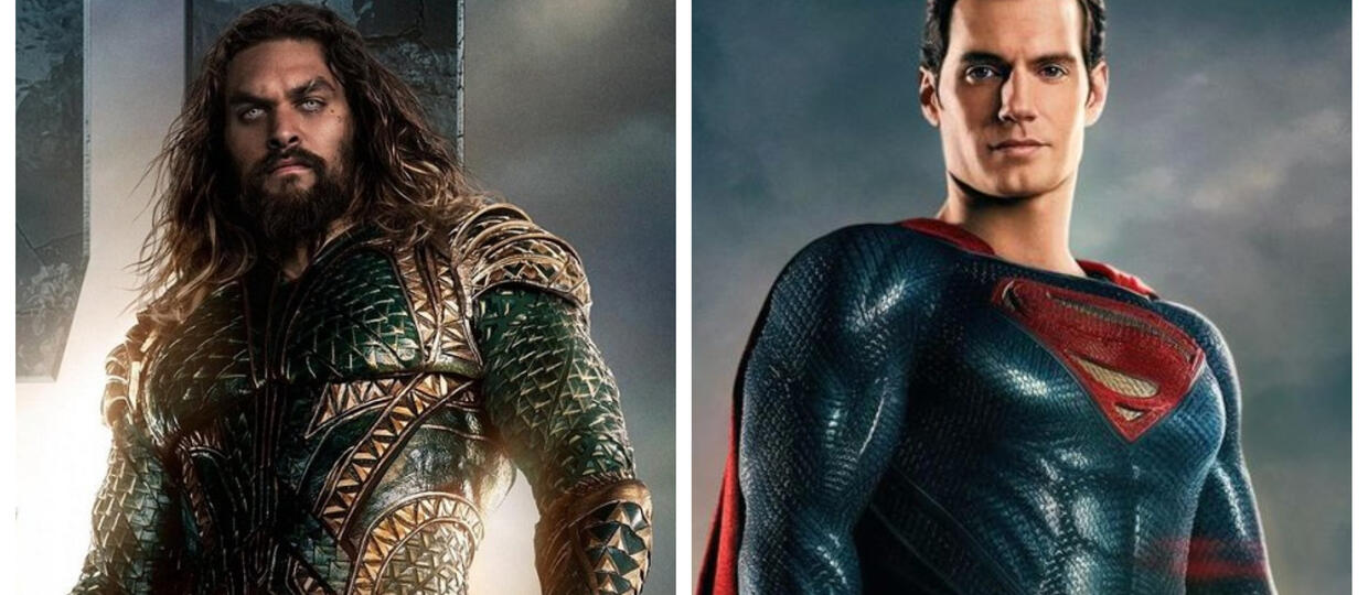 Aquaman (Jason Momoa) i Superman (Henry Cavill))
