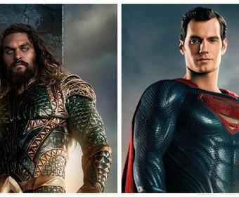 Aquaman (Jason Momoa) i Superman (Henry Cavill))