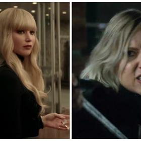 Jennifer Lawrence jako Czerwona Jaskółka i Scarlett Johansson jako Black Widow