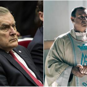 Piotr Gliński, Robert Więckiewicz w filmie Kler