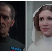 Grand Moff Tarkin i Księżniczka Leia stworzeni za pomocą CGI