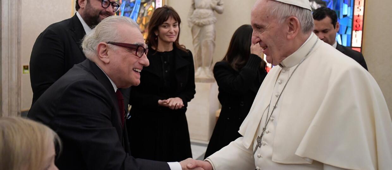 Martin Scorsese na audiencji u papieża