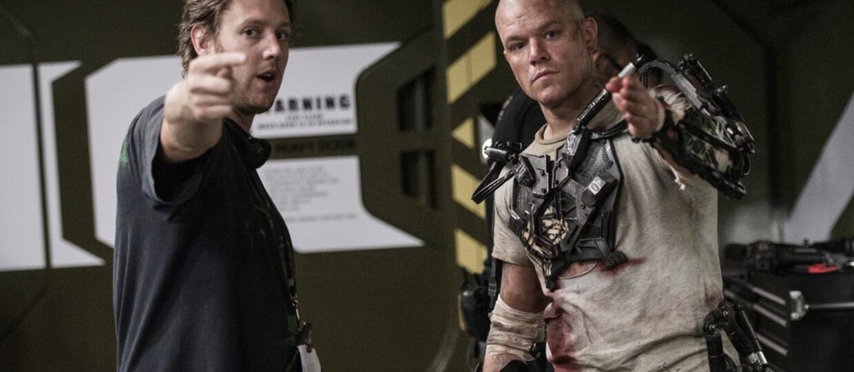 Neill Blomkamp i Matt Damon na planie Elizjum