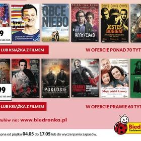 Ponad 70 tytułów filmowych za 9,99 złotych w majowej ofercie Biedronki