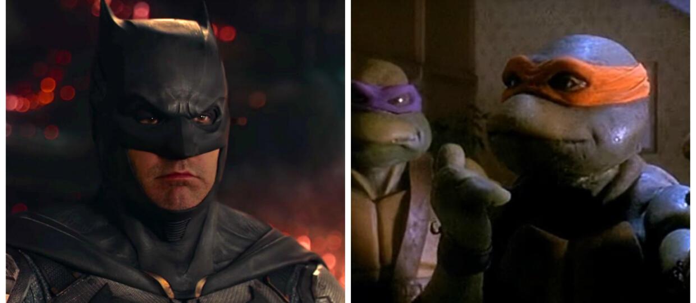 kadry z filmów Liga Sprawiedliwości i Wojownicze Żółwie Ninja