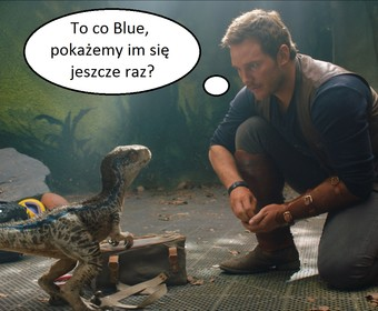 Owen (Chris Pratt) i velociraptor Blue