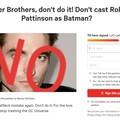 Robert Pattinson jeszcze nie został Batmanem, a już są petycje żeby nim nie był