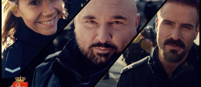 Vega, Stramowski i Bołądź promują służbę w Komendzie Stołecznej Policji