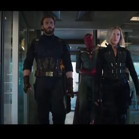 Kapitan Ameryka, Vision i Black Widow w Avengers: Infinity War