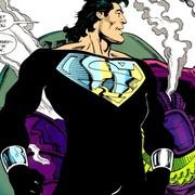 Czarny kostium Supermana na planie crossovera Arrowverse