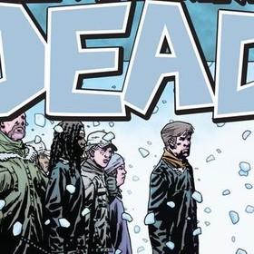 Rick i grupa ocalałych - kadr z 15 tomu The Walking Dead