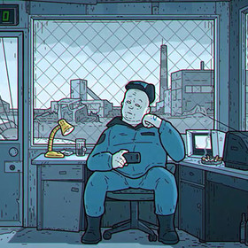 "Foto: kadr z wideo ""THE SIMPSONS. Russian Art Film Version"""