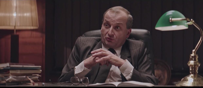 Robert Górski jako Jarosław Kaczyński w zapowiedzi serialu