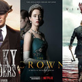 """plakaty seriali """"Peaky Blinders"""", """"The Crown"""" i """"Vikings"""", foto: materiały prasowe"""