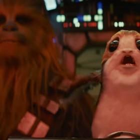 """Zobacz reakcję Chewiego na Porga w nowej zajawce filmu """"Gwiezdne Wojny: Ostatni Jedi"""""""