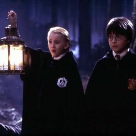 TOM FELTON, DANIEL RADCLIFFE - kadr z filmu Harry Potter i Kamień Filozoficzny