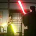 Kylo Ren może się schować ze swoim mieczem. Zobacz nunczako świetlne Bruce'a Lee!