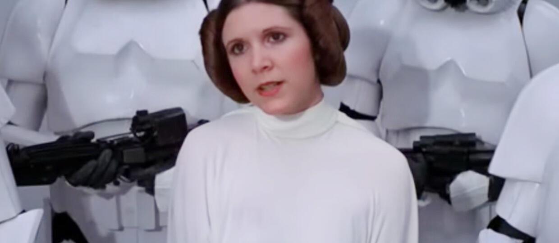 Carrie Fisher jako księżniczka Leia