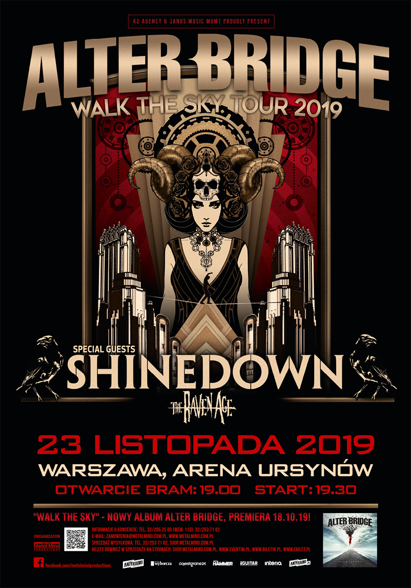 Alter Bridge w Warszawie 2019