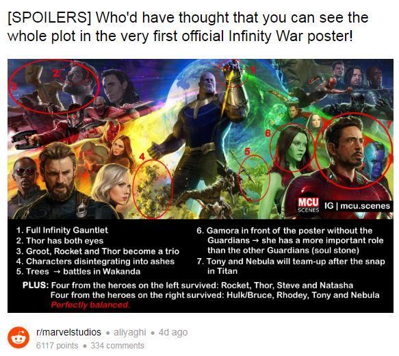 Avengers: Infinity War - spoilery