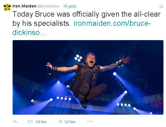 Bruce Dickinson Twitter