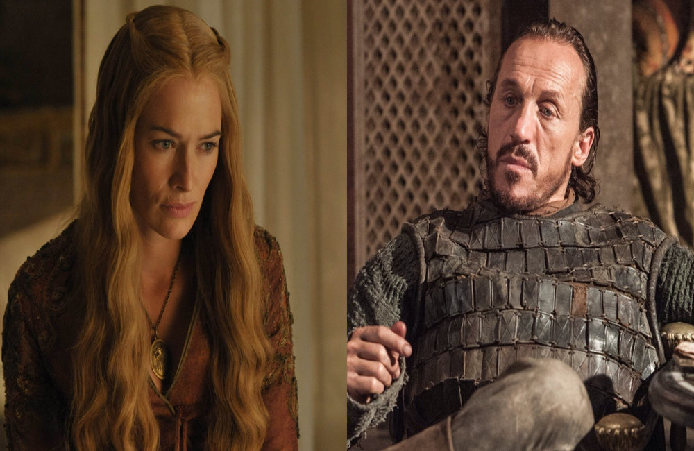 "Cersei i Bronn, foto: kadry z serialu ""Gra o tron"""
