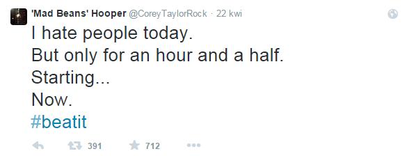 Corey Taylor Twitter