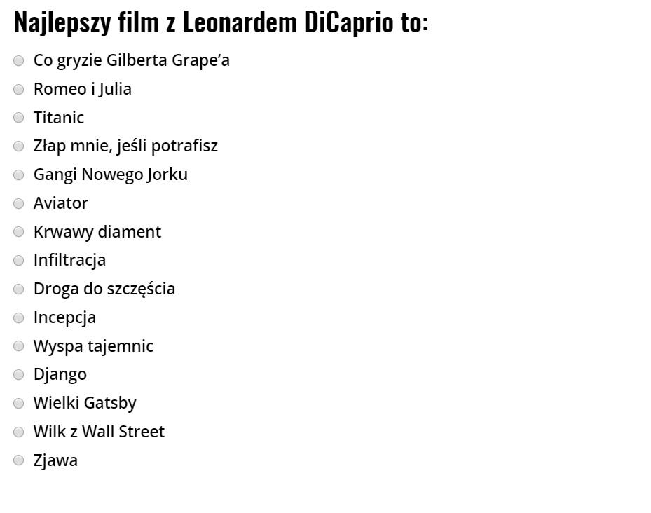 Leonardo DiCaprio - najlepsze filmy