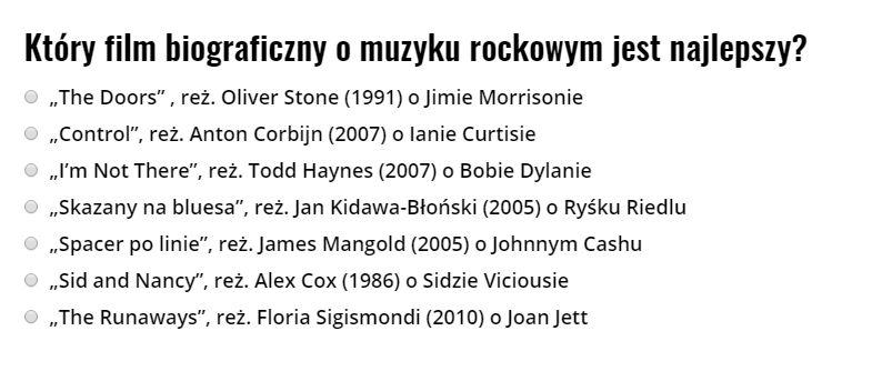 najlepszy film o muzyku rockowym