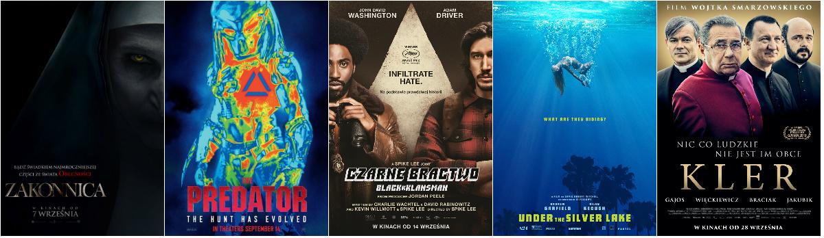 Filmy polecane na wrzesień 2018